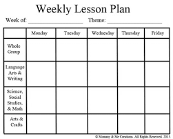 weekly preschool lesson plan template pre k pinterest lesson