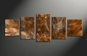 5 piece brown oil paintings abstract large canvas home decor 5 piece canvas arts oil canvas arts abstract huge canvas art