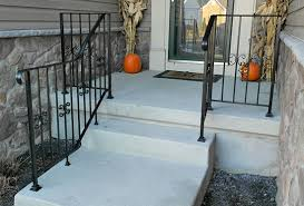 Handicap Handrail Wrought Iron Railings U0026 Pipe Railing South Jersey Custom Hand