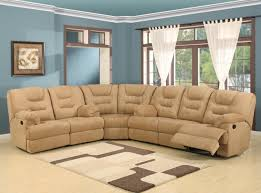 beige easy rider plush fabric modern reclining sectional sofa