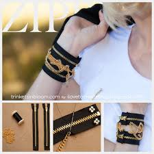 diy fashion bracelet images Diy zipper bracelet with chains jpg