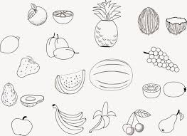 gallery of fruit coloring pages free download printable coloring