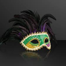 feather mask deluxe venetian mardi gras carnival non light up festival feather