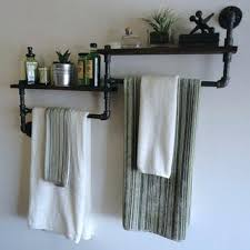 Bathroom Shelves With Towel Rack Shelves With Towel Bar Lamdepda Info