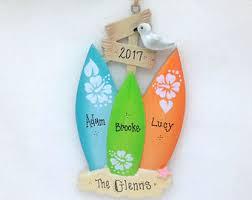 surfboard ornaments etsy