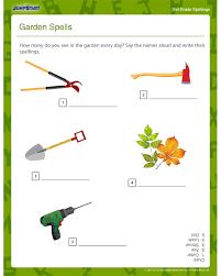 garden spells printable english worksheet for grade 2