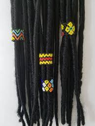 dreadlock accessories dreadlock braid hair accessories peyote stitch 1 fits 14