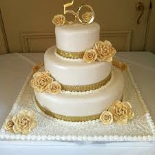 golden wedding cakes 50th wedding anniversary cakes wedding ideas