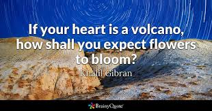 volcano flowers if your heart is a volcano how shall you expect flowers to bloom