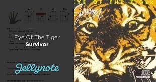 eye of the tiger paroles et accords survivor