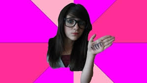 Fake Nerd Girl Meme - no one likes a faker wannabe nerds analytical otaku