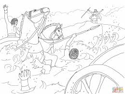 moses parting the red sea coloring page moses cloroing pages pages
