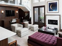 Contemporary Living Room Interior Design And Furnishings - Modern style interior design