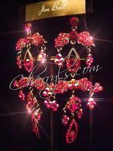 jim earrings clip pageant earrings teal ab large swarovski chandelier