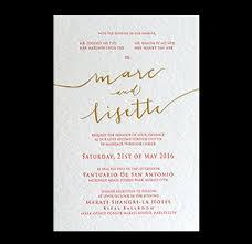 Wedding Invitations San Antonio Wedding Invitations Manila Philippines Letterpress Wedding