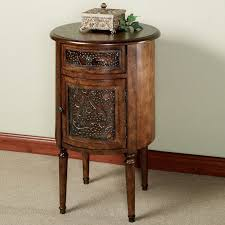 dark wood side table round side table with storage round designs