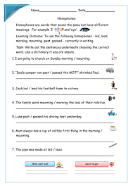 year 5 and 6 homophone worksheet by krazikas teaching resources