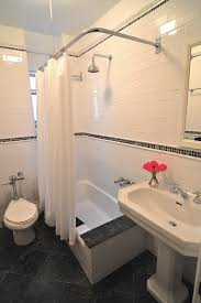 Custom Bathroom Shower Curtains Attic Sloped Ceiling Custom Shower Rod Traditional