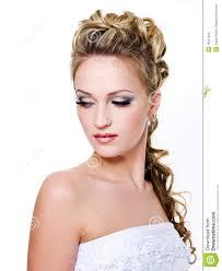 femme mariage femme avec la coiffure de mariage photo stock image 15057524