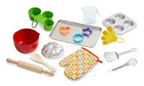 Toy Kitchen Set Food Amazon Com Melissa U0026 Doug Baking Play Set 20 Pcs Play Kitchen