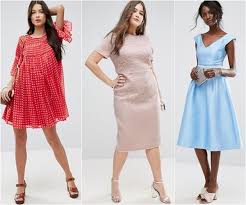 garden wedding guest dress ideas for skinny petite and plus size