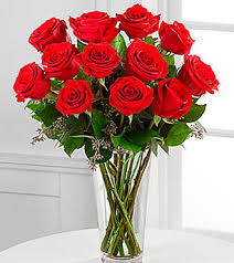 Red Flowers In A Vase The Long Stem Red Rose Bouquet By Ftd Vase Included