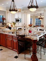 marble island kitchen varnished cherry wood kitchen island with stunning marble island