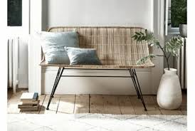 flat rattan high back bench absolute home