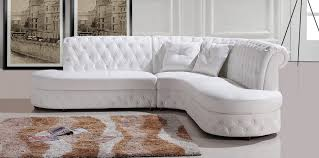 Contemporary White Leather Sectional Sofa by Divani Casa 2818c Modern White Leather Sectional Sofa