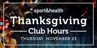 sport health thanksgiving hours