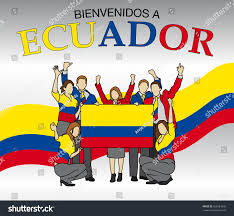 The Flag In Spanish Bienvenidos Ecuador Welcome Ecuador Spanish Language Stock Vector