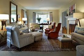 Big Living Room Ideas Kristen Panitch Interior Blue Ticking Brentwood Project