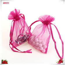 tulle bags 50pcs 11x16cm organza gauze element bags tulle fabric drawstring