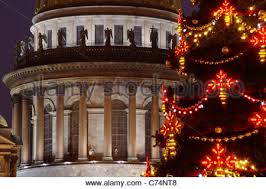 russia st petersburg christmas tree at the palace square arch