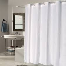 Check Shower Curtain Ez On White Check Fabric Shower Curtain Liner With Built In Hooks