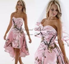 cheap pink camo wedding dresses high cut wedding dresses