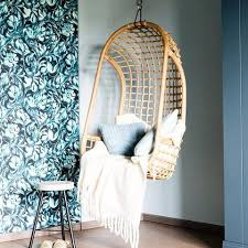 hanging chair natural rattan by hk living cranmore home