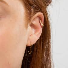huggie earrings huggie hoop earrings with clear stones by scream pretty