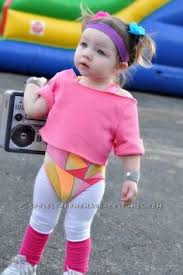 Cute Halloween Costumes Baby Girls Cutest 80 U0027s Workout Girls Couple Costume Toddlers Workout