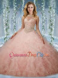 light pink quince dresses unique beaded bodice baby pink quinceanera dress with halter top