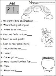 student u0027s practice writing end marks with this st patrick u0027s day