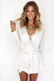 fly by lace playsuit in white dresses pinterest lace