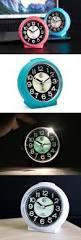 ivation clock jcc charming luminous non ticking quartz alarm clock alarm