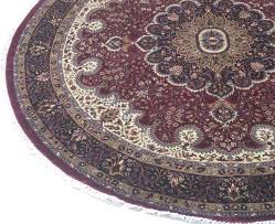 Hand Knotted Rugs India Round Burgundy Hand Knotted 8 U0027 X 8 U0027 Cotton Silk Blend Area Rug