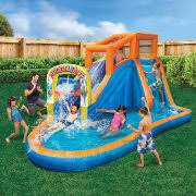 Water Slides Backyard by Banzai Plummet Falls Adventure Slide Inflatable Water Slide