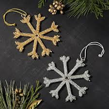 snowflake ornaments crate and barrel