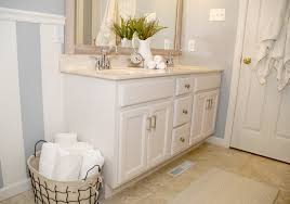 cabinet protective top coat bathroom cabinet transformation living rich on lessliving rich on less