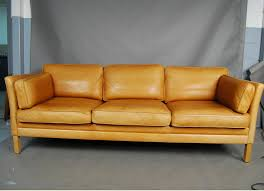 sold mogens hansen light tan leather sofa 34d114 danish vintage