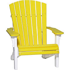 Yellow Plastic Adirondack Chair Luxcraft Adirondack Chair Recycled Plastic Deluxe Model Rocking
