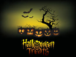 halloween treats poster ppt backgrounds 3d games templates